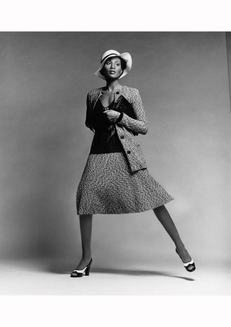 Beverly Johnson in Tweed Suit