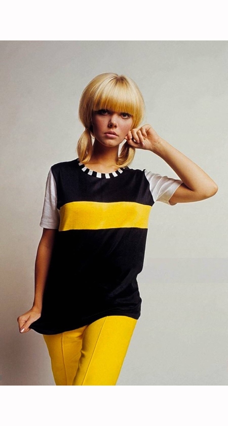 dave-mccabe-stands-wearing-a-cole-of-california-top-and-hip-pants-mademoiselle-1966