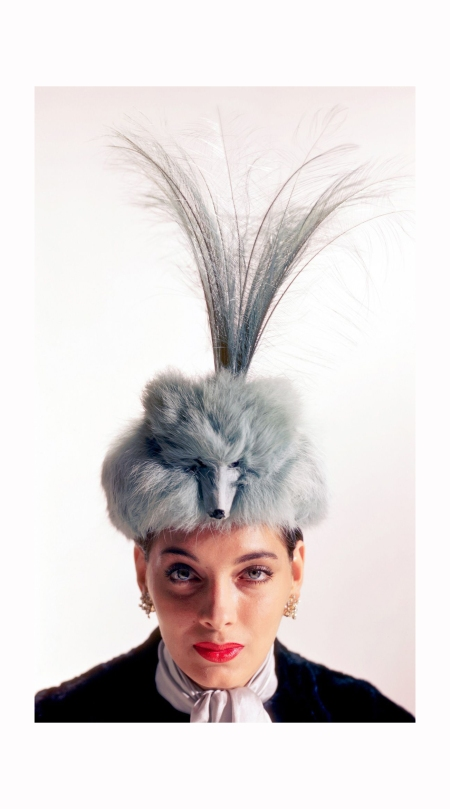dorian-leigh-1950-modeling-a-fox-fur-hat-by-john-frederics-image-by-genevieve-naylor-cover