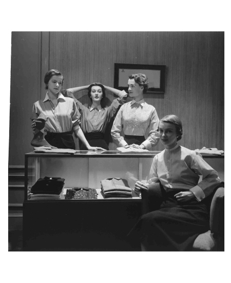 dovima-center-nan-rees-2nd-l-and-two-other-models-wearing-man-tailored-shirts-by-mcmullen-co-1949-gordon-parks-b