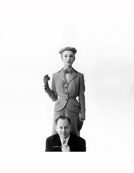 fashion-designer-henry-digby-morton-with-model-shirley-worthington-1953-norman-parkinson