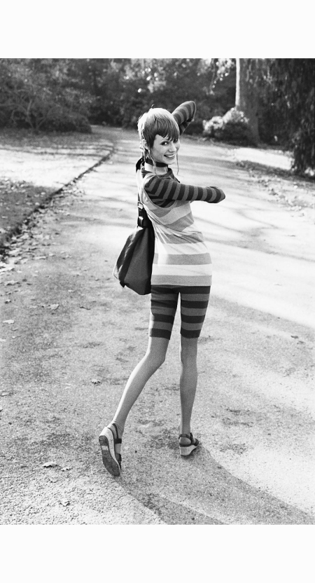 london-model-havington-with-haircut-by-vidal-sasson-wearing-striped-knit-tight-bermuda-shorts-ensemble-with-wedge-heel-shoes-by-yves-saint-laurent-rive-gauche-1971