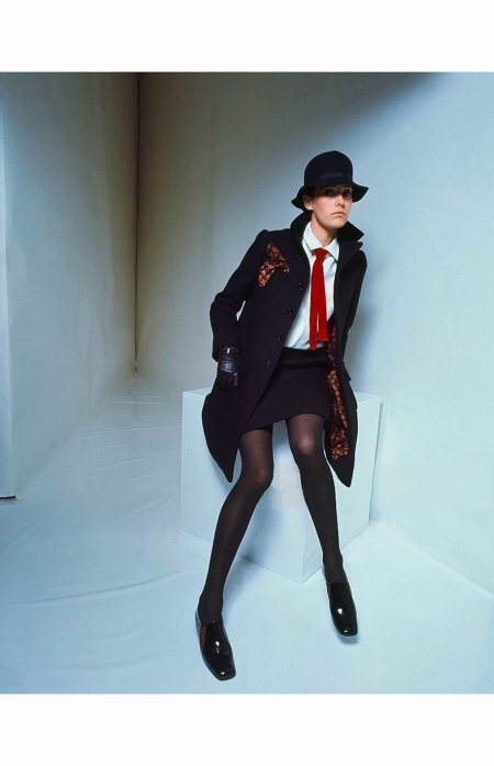 model-wearing-a-black-topper-with-a-matching-mini-skirt-white-shirt-and-a-red-tie-mademoiselle-1967-david-mccabe