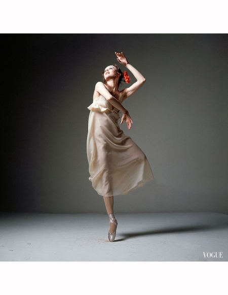 new-york-city-ballet-principal-allegra-kent-wearing-beige-v-necked-empire-waisted-dacron-dress-by-leo-narducci-with-body-stockings-by-sapphire-hair-by-ara-gallant-vogue-1970-bert-stern