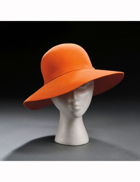 orange-felt-hat-halston-new-york-1970s