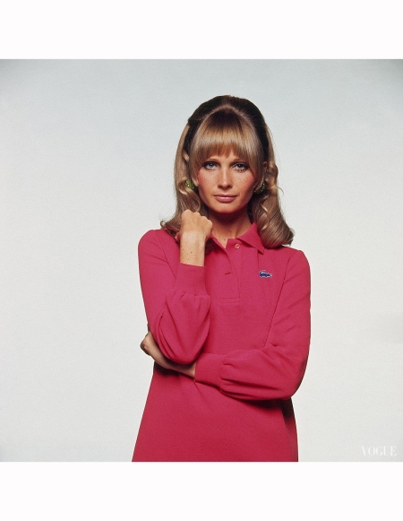 susan-murray-wearing-red-chemise-lacoste-shirtdress-by-david-crystal-vendome-earrings-and-make-up-by-loreal-hair-by-alan-of-kenneth-coiffure-bert-stern