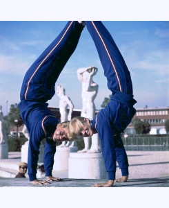 usa-gymnasts-doris-fuchs-l-and-sharon-richardson-r-frolic-in-romes-stadio-dei-marmi-during-the-summer-olympics-1960-rome-italy-george-silk