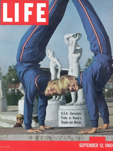 usa-gymnasts-doris-fuchs-l-and-sharon-richardson-r-frolic-in-romes-stadio-dei-marmi-during-the-summer-olympics-1960