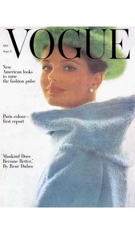 vogue-magazine-cover-1962-model-kecia-nyman-in-fuzzy-blue-coat-and-green-art-kane