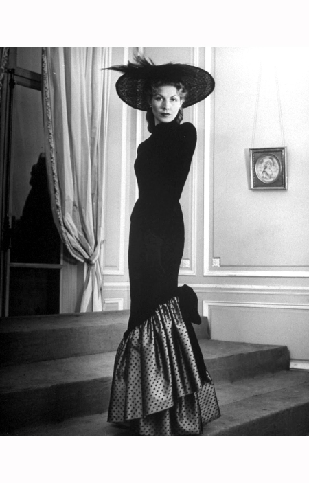a-woman-modelling-a-fancy-evening-dress-designed-by-jacques-fath-1951-nina-leen