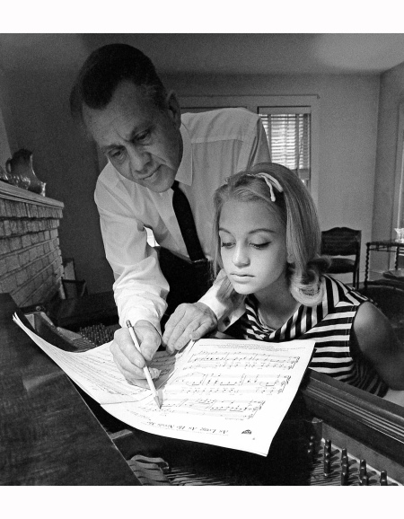 Goldie Hawn At The Piano With Father
