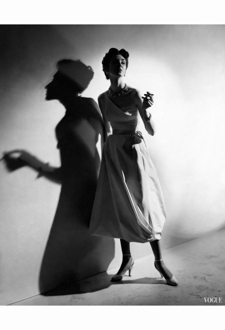 model-in-a-one-shoulder-white-silk-hattie-carnegie-cecil-beaton-vogue-may-1952