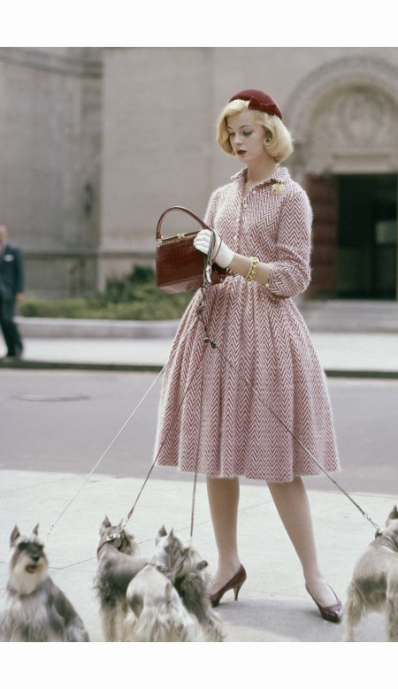 model-is-wearing-knitted-dress-by-anne-fogarty-velvet-hat-by-emme-and-alligator-bag-by-lucille-glamour-oct-1959-sante-forlano
