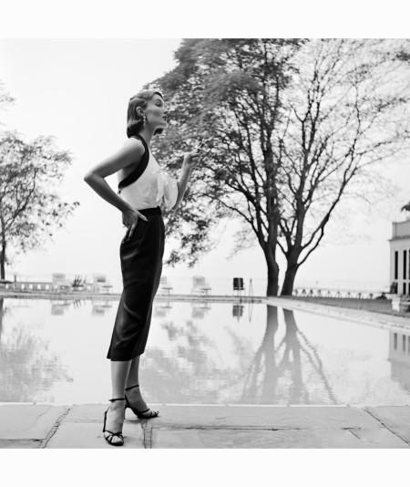 evelyn-tripp-wearing-a-halter-top-dress-by-katja-of-sweden-bermuda-1951-genevieve-naylor