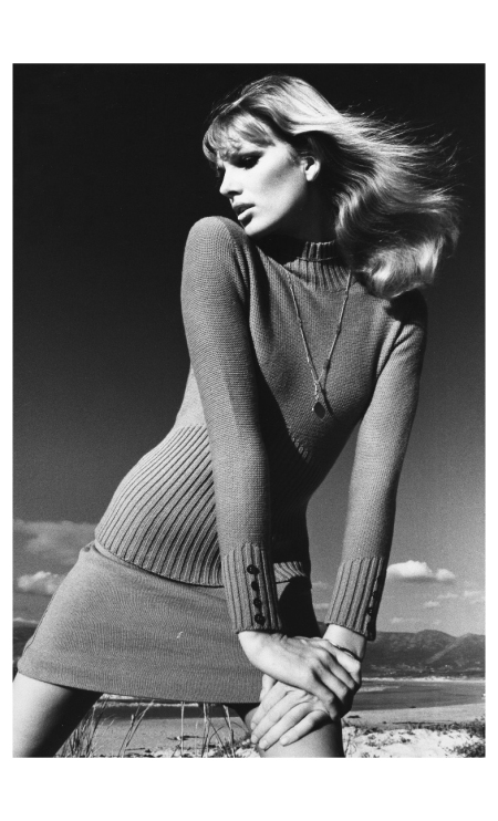 ines-kummernuss-aka-ines-lunardi-in-a-brown-knit-dress-model-falke-1969-photo-fc-gundlach