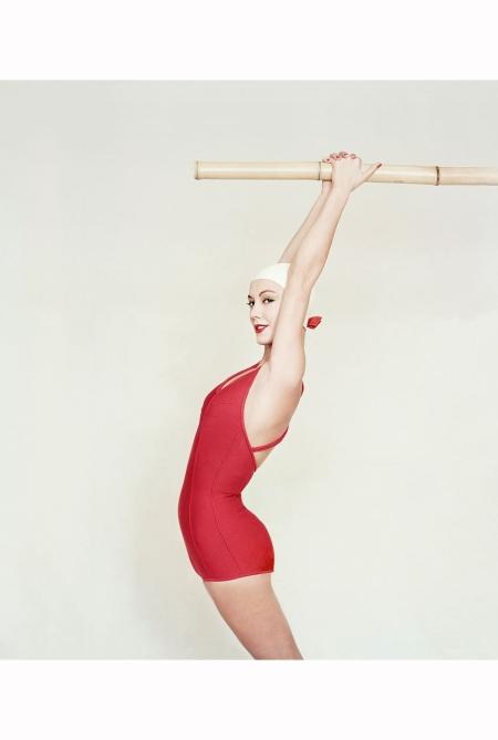model-wearing-an-orangey-red-maillot-by-jantzen-1958-richard-rutledge