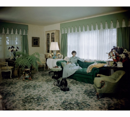 the-floral-carpet-and-green-and-yellow-tones-of-the-fabric-create-an-indoor-garden-scheme-as-mrs-william-paley-aka-babe-lounges-on-a-tufted-sofa-in-1948-serge-balkin-vogue-june-1948