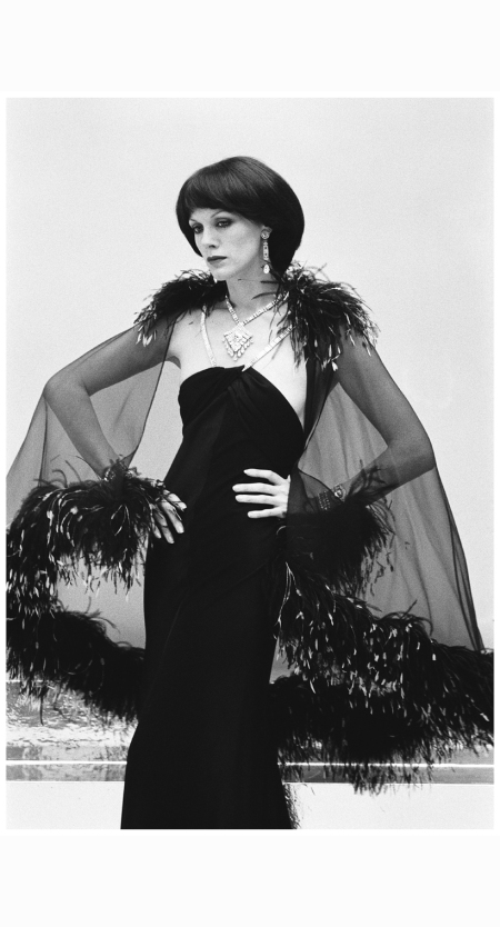1974 : Annie Duperey dressed by Yves Saint Laurent