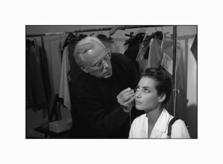 ITALY. Milan. Giorgio ARMANI, Italian couturier with Christy TURLINGTON, model.
