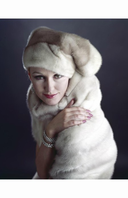 dorothy-mcgowan-modeling-a-maximilian-mink-%22stocking-cap%22-and-stole-with-diamond-bracelets