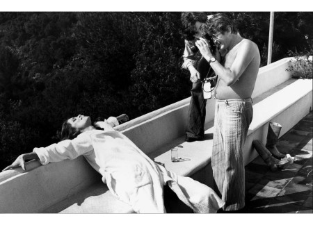 Helmut Newton Photographing Charlotte Rampling Cannes 1975 © Mary Russell