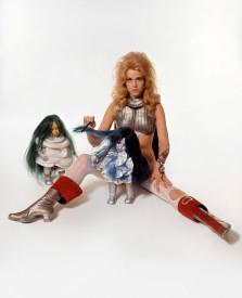 """ITALY. Rome. Jane Fonda who starred in """"Barbarella."""" September 1967."""