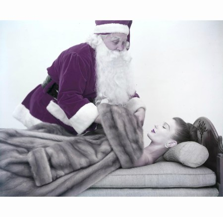 mary-jane-russell-1955-in-profile-sleeping-as-santa-claus-covers-her-with-a-maximilian-for-emba-autumn-haze-natural-brown-mutation-mink-coat-and-cartier-diamond-earrings-for-vogue-and-harpers-bazaa