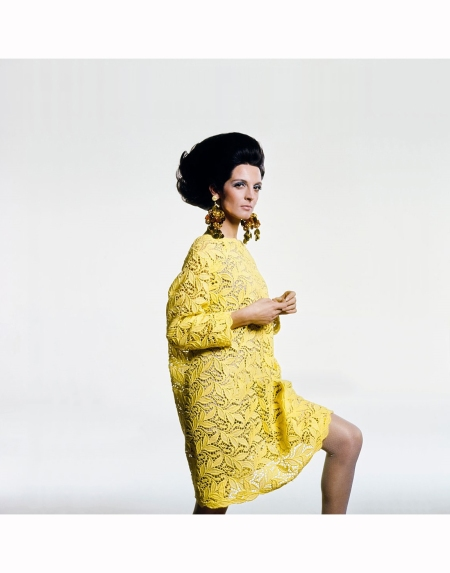 mirella-petteni-stands-wearing-a-cotton-lace-dress-by-gustave-tassell-and-earrings-by-robert-originals-hair-by-suga-of-kenneth-vogue-1967-bert-stern