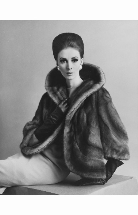 wilhelmina-with-her-hair-up-modeling-a-fur-jacket-with-earrings-and-gloves-1970s