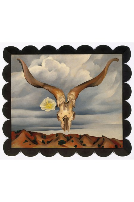 Georgia O_Keeffe, Ram_s Head, White Hollyhock-Hills, 1935