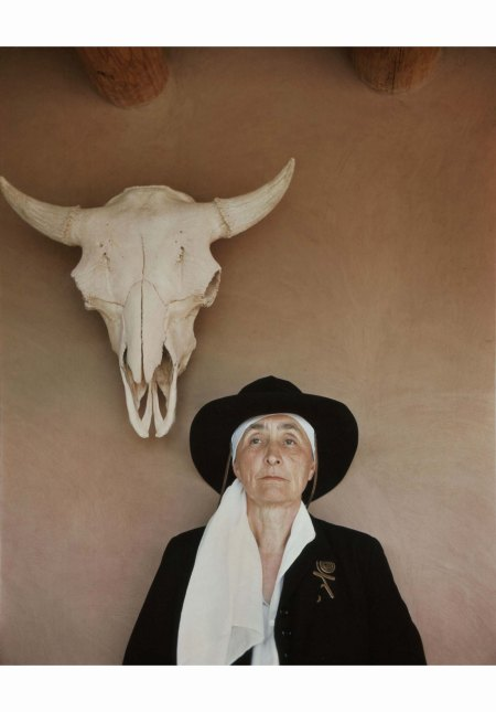 Philippe Halsman - Georgia O'Keeffe at home in Abiquiú, New Mexico, 1948