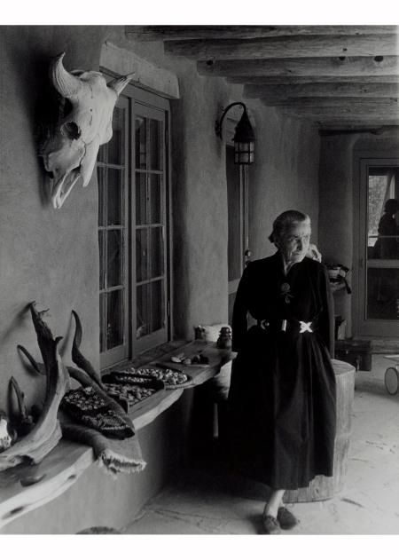 Todd Webb (American, 1905-2000). Georgia O'Keeffe on Ghost Ranch Portal, New Mexico, circa 1960s.