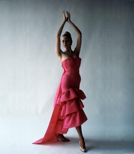 Flamenco Style evening dress Cristóbal Balenciaga Paris 1961 © Cecil Beaton studio 1971