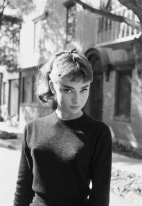 Audrey Hepburn on the set of Sabrina Los Angeles 1953