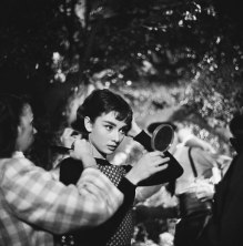 Audrey Hepburn on the set of Sabrina