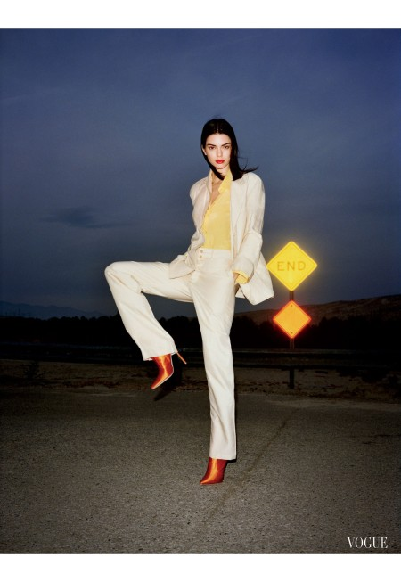 Kendall Jenner spring 2017 neutral looks bright accessories Vogue, March 2017 © Angelo Pennetta