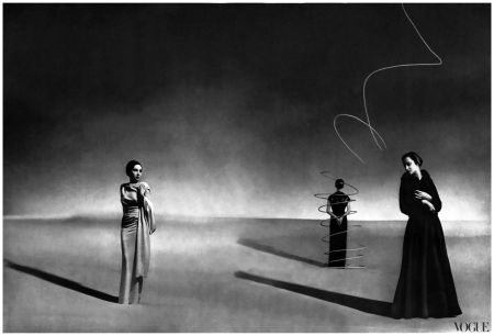 a-satin-dress-center-straight-and-clenched-with-a-metal-slide-and-an-ottoman-friar-cape-right-from-schiaparelli-1936-photographed-by-andrc3a9-durst