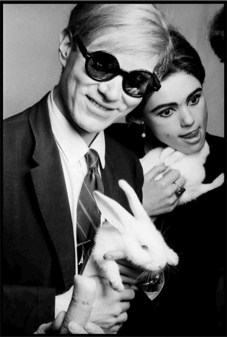 Andy Warhol With Rabbit, 1966