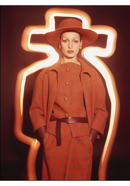 Antonia + Orange Plaid, Paris Yves Saint Laurent (Vogue), 1962