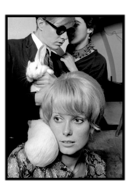 Catherine Deneuve et Andy Warhol , 1965 © Jean-Jacques Bugat, Catherine Deneuve et Andy Warhol