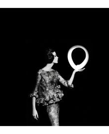 Dorothy + Big White Circle, Paris, 1962
