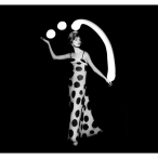 Dorothy juggling white light balls, Paris, 1962