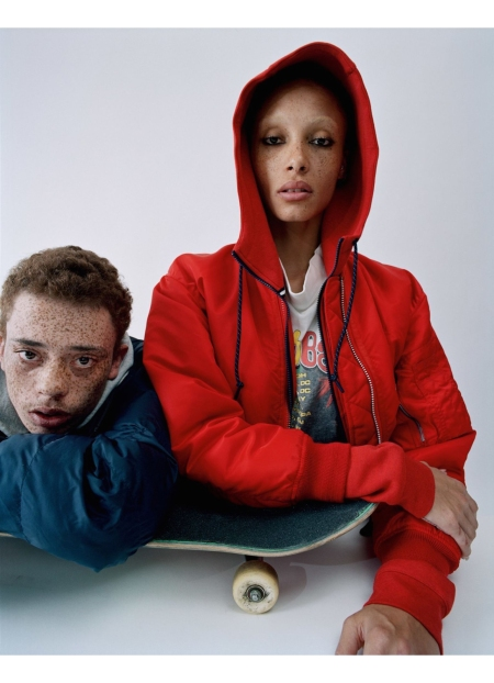 Elliott Brown Adwoa Aboah London, UK Vogue Centenary June 2016 © Tim Walker