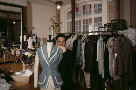 In his workshop, based in Paris's Marais district 1986