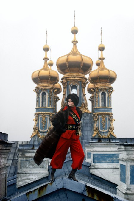 In January 1967 Jo Segal, the fashion editor of LOOK, and I met up with American model Ann Turkel in Paris and made our way to Moscow Leningrad Gilded Domes of the Catherine Palace in ne
