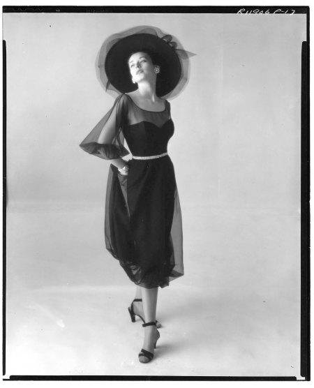 Model - (Dorian Leigh) wearing evening dress, March 28, 1946
