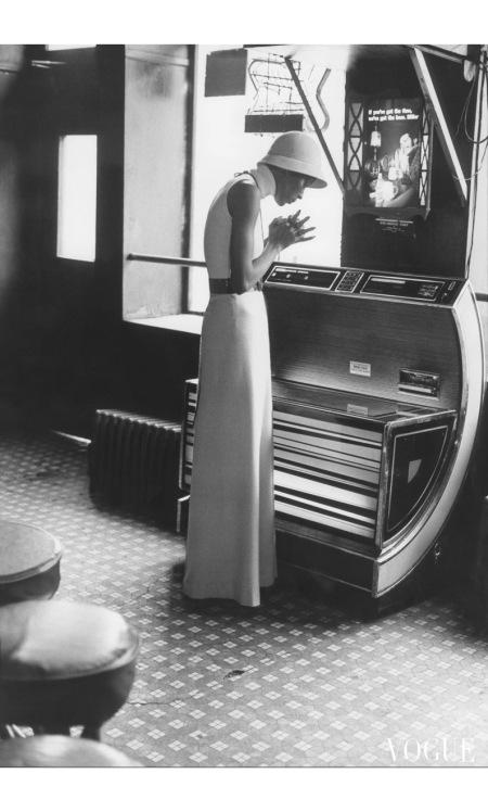 Naomi Sims Halston Dress Lucky Spot restaurant June 1972 Vogue © Berry Berenson