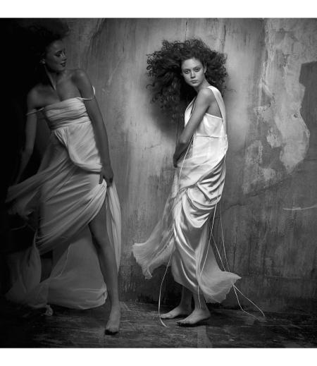 Natalie Westling Rianne van Rompaey Vogue Italia September 2017 © Peter linbergh b