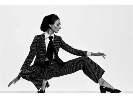 Naty Abascal YSL Suit Harper's Bazaar 1967 © Frank Horvat
