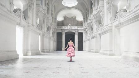 Opéra Bouffe silk taffeta dress, Aimant line, Haute Couture SS56, Christian Dior © Emma Summerton